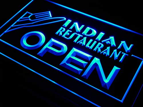 Cartel Luminoso ADV PRO i643-b Indian Restaurant OPEN Food ...