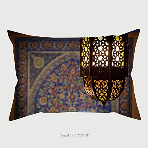 Custom Satin Pillowcase Protector Lantern Lamp In A Traditional Islamic Style 209850817 Pillow Case Covers Decorative by chaoran