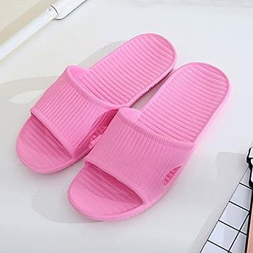 CWJDTXD Zapatillas de verano Antideslizante confort delgada luz inferior pareja hombres y mujeres casa baño baño