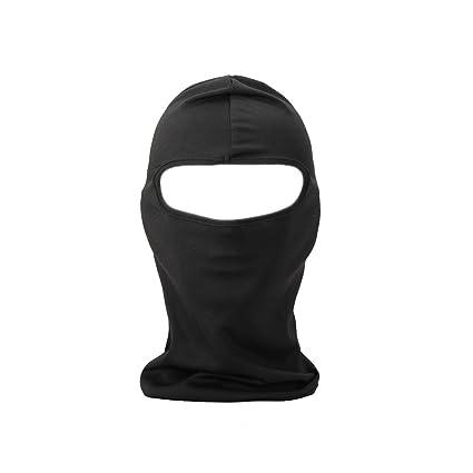 FENTI cara Máscara de protección Facekini Mantas, diseño de cráneo, color negro talla única regulable para deportes exteriores ciclismo esquí ...