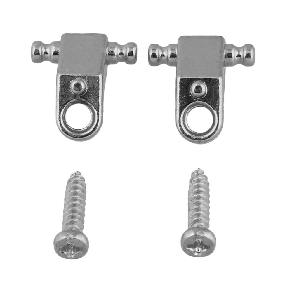 BQLZR Silver Copper Roller String Trees/String Retainers with Screws for Electric Guitar Pack of 2 BQLZRN28549