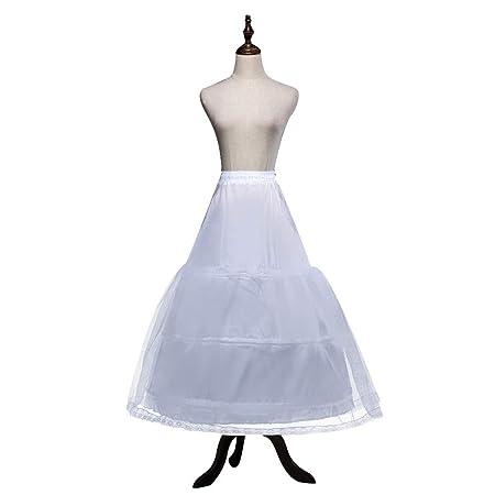 Kinandpri Vestido de Novia Mujer/Niñas 3 Aros Enagua Falda ...