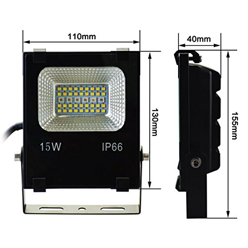 Melpo 15w Waterproof Led Flood Light With Remote And Us 3