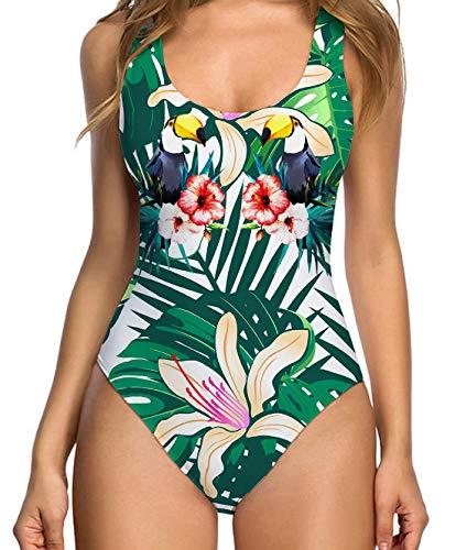 Uideazone Srxy Backless Bikini for Women One Piece Monokini Push Up Swimwear Summer Beach Bathing Suits