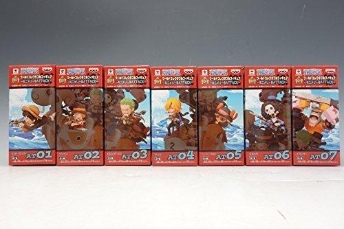One Piece World Collectable Figure Attack Mini Merry 7 Figures Complete Set Banpresto Japan