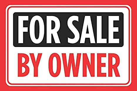 Sell By Owner >> Amazon Com For Sale By Owner Print Black Red Signs Sell