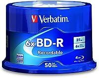 Verbatim 700MB 4x-12x 80 Minute Silver Rewritable Disc CD-RW, 25