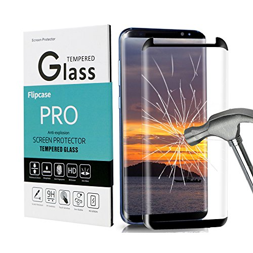 Galaxy S8 Plus Screen Protector,Galaxy S8 Plus Tempered Glass,Galaxy S8+[Full Screen Coverage][Anti-Bubble][Anti-Scratch]Flipcase Glass Screen Protector for Samsung Galaxy S8 Plus from FlipCase