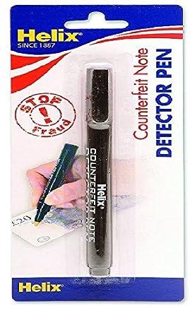 Helix - Bolígrafo con detector de billetes falsos: Amazon.es: Oficina y papelería