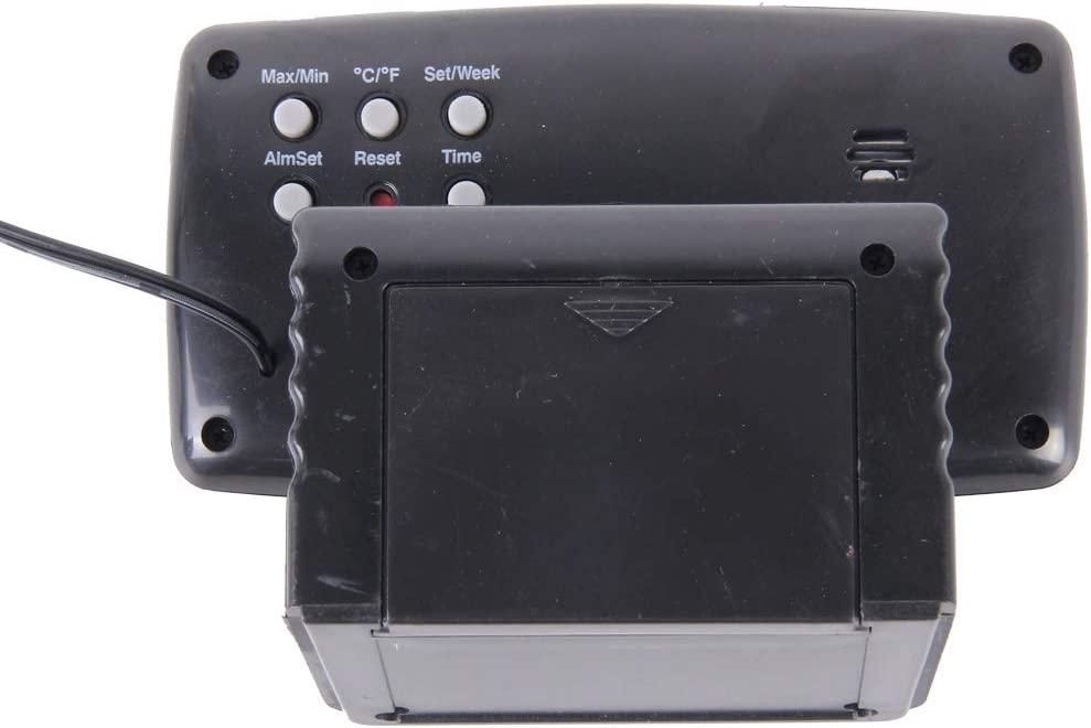 HANMEILING Nouveau SH-350-2 de multiples fonctions de la temp/érature du thermom/ètre num/érique R/éveil Moniteur LCD D/étecteur Testeur de batterie Display