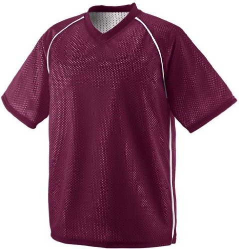 UPC 784371541583, Augusta 1615A Adult Verge Reversible Jersey, Maroon And White - Large