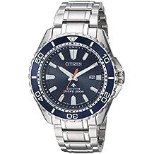 Citizen Men's 'Eco-Drive' Quartz Stainless Steel Diving Watch, Color:Silver-Toned (Model: BN0191-55L)