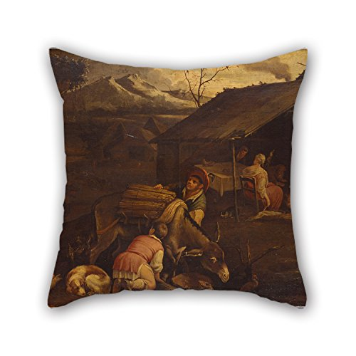 Oil Painting Bassano, Francesco - Winter Pillow Cases ,best For Bedroom,drawing Room,him,teens Girls,sofa,him 20 X 20 Inches / (Bed N Bag Sets Queen Pink)