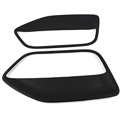1 Pair Coverlay Replacement For Ford Mustang 2005 2006 2007 2008 2009 Door Panel Insert Front Driver & Passenger Side Black: Automotive