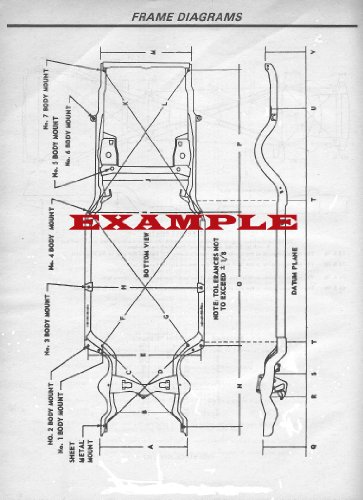 1964 - 1965 FORD FALCON LAMINATED FRAME DIAGRAM - Ford Falcon Restoration