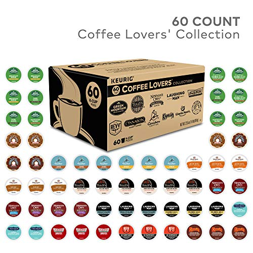 Keurig Coffee Lovers' Collection, Single Serve Coffee K-Cup Pod, Variety, 60 from Variety Packs