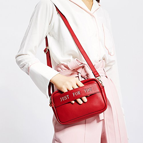 Strap Bags Winered Bag Clutch Vintage Chic with Crossbody Leather Bag Designer Fashion Evening Girls Women Shoulder Handbag Purse Shoulder for 5nxqn7wZzH