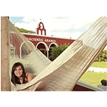 Sunnydaze Hand-Woven 2 Person Mayan Hammock with Stand, Matrimonial Size, Natural, 400 Pound Capacity