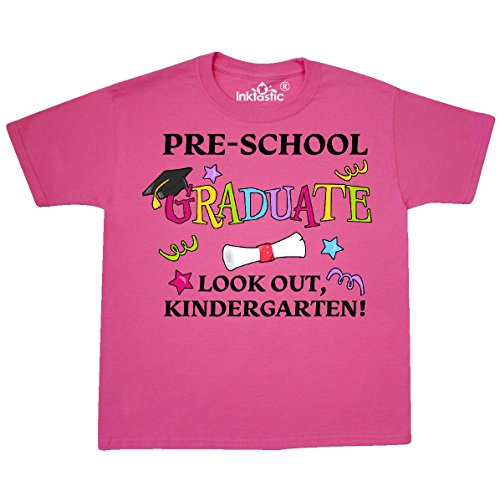 inktastic - Pre-School Graduate Youth T-Shirt Youth Small (6-8) Neon Pink 290ee ()