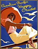 """Wall Calendar 2018 [12 pages 8""""x11""""] Ocean Cruise Ship Vintage Travel Poster"""