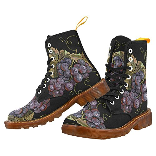 Women For Boots Shoes Fashion Grape whale Up InterestPrint Lace Print nxZ18T0C