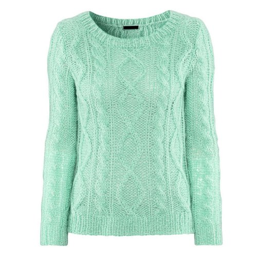 Women Batwing Loose Long Sleeve Pullover Crochet Hollow Knitted