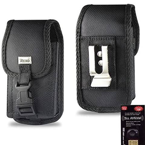 Heavy Duty Rugged Canvas Case with Locking Clip Closure and Metal Clip on the back for LG Optimus F3. Also has canvas belt loop underneath the clip. Great for Hiking, Camping, Outdoor and Construction Work. Comes with Antenna (Lg Optimus F3 Metal Case)