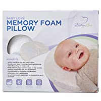 Baby Head Shaping Memory Foam Pillow & Bamboo Pillowcase. KEEP an Infant's he...