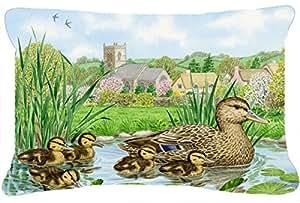 Caroline tesoros del asa2178pw1216Mallard Duck Tejido decorativo almohada, tamaño grande, Multicolor
