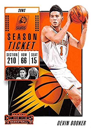 9a1caf7264931 Amazon.com: 2018-19 Panini Contenders Season Ticket #55 Devin Booker ...