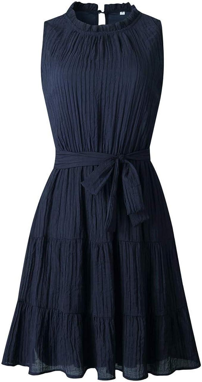 Fashion Solid Damen Kleid zum Schnüren: Amazon.de: Bekleidung