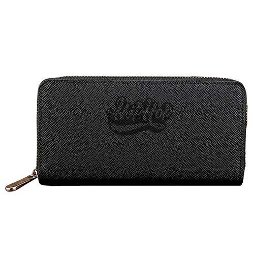 Long Fashion Purse Hip Hop Typo PU Wallets Cit Card Clutch Huge Storage Capacity by Biprdwm