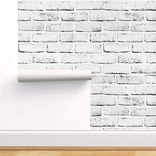 White Brick Wallpaper Self Adhesive Removable 17 71 118 White Brick Peel And Stick Decorative Wallpaper White Brick Contact Paper Peel And Stick For Fireplace Laundry Room Bedroom Wall Decoration Pricepulse