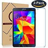 for Samsung Galaxy Tab 4 8.0 T330 T331 T335 Tempered Glass Premium Screen Protector Guard 9H HD Anti Fingerprint and Scratch 99% Light Transmission Perfect Touch (2-Pack)