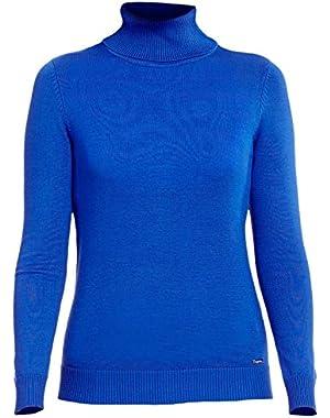 Women's Ribbed Fine Gauge Turtleneck Pullover