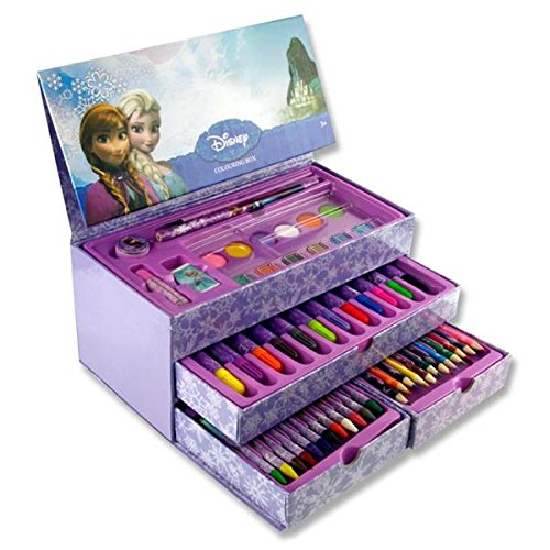 FROZEN 53pce CARRY BOX COLORING SET WITH HANDLE: Amazon.co.uk ...
