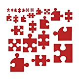 Wild Dingos LLC Puzzle Piece 50 Asst Style 2 Wall Decor Vinyl Sticker Red