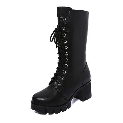 c716985df0e9b0 Stiefel Damen Julywe Frauen Ankle Booties Leder Ritter Martin Stiefel Zip  Cowboy Schuhe Mode