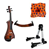 Meisel Electric Violin Pack Sunburst w/Silver Stand, Tuner & Star Rosin