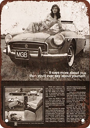 1971 MGB Vintage Look Reproduction Metal Tin Sign 12X18 Inches