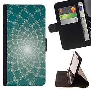 For Samsung Galaxy A3 - Abstract Floral Lines /Funda de piel cubierta de la carpeta Foilo con cierre magn???¡¯????tico/ - Super Marley Shop -