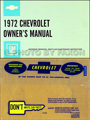 (1972 Chevrolet All Owners Manual)