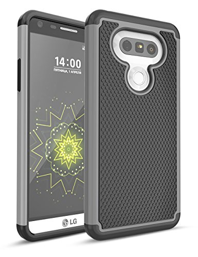LG G5 Case, TILL Shock Absorbing Hybrid Dual-Layer Defender Rugged Slim Case Soft Interior Silicone Bumper Hard Solid PC Back Cover Shell For LG G5 Phone AT&T T-mobile Sprint Verizon Unlocked (Att Cover)