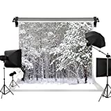 Kate 10x6.5ft/2.2x1.5m Photo Scenic Background Holiday Backdrop Frozen Snow Trees Winter Wedding Photography