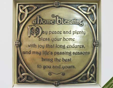 Carrolls Irish Gifts Bronze Plated Wall Plaque With A Home Blessing