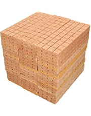 Kohbau - Encendedor de chimenea, 2600 unidades, para barbacoa, cubos de encendedor, encendedor rápido, ecológico para horno, encendedor de carbón, encendedor de leña, cera de virutas de madera
