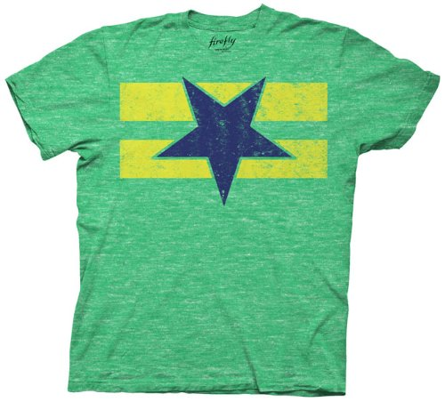 Firefly Serenity Browncoast Flag T-shirt (XXL, Green)