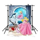 MME 5X7 ft Disney Cartoon Princess Background Child Photography Seamless Vinyl Photography Studio Backdrop NANME775