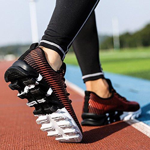 Sneakers Negro Trainer Blanco NEOKER Zapatillas Para Calzado Deporte naranja Hombre de qSqn6Xgw