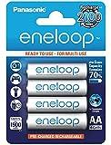 Panasonic Eneloop SY3052630 - Pack 4 pilas recargables, AA
